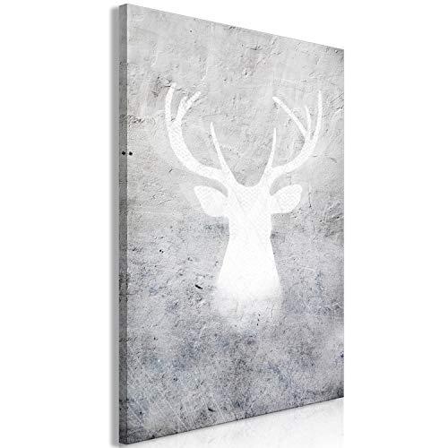 murando - Bilder Tiere 60x90 cm Vlies Leinwandbild 1 TLG Kunstdruck modern Wandbilder XXL Wanddekoration Design Wand Bild - Abstrakt Elch Hirsch grau g-A-0208-b-a