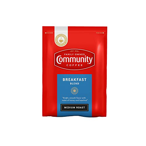 Community Coffee Breakfast Blend Medium Roast Fractional Packs Box of 40 25 Ounce Packets