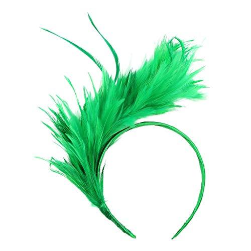 Holywin Bandeau Burlesque Vintage Coloré Flapper Headband Fantaisie Plume d'Autruche