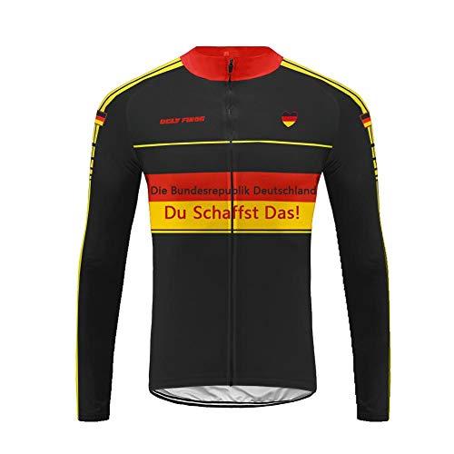 UGLY FROG MTB Rennrad Radtrikot Rennrad Herren Lange Ärmel, MTB Winter Warm Fahrradbekleidung Top Herren Cycling Shirts Fahrrad Trikot Langarm Reflektierend