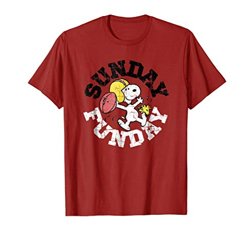 Peanuts Sunday Funday Football snoopy T-shirt for Adults, Kids