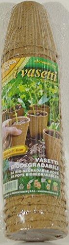 Franchi semis Lot de 24 pots de tourbe biodegrabili cm6 pour propagatori