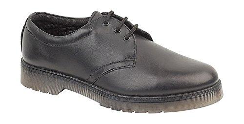Amblers Aldershot Gibson Damen Leder Schuhe (36 EUR) (Schwarz)