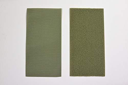 【ワッペン用】YKK製Quicklon(クイックロン) ベルクロ(マジックテープ) 【10cm×20cm/モスグリーン・モヘアタイプ】