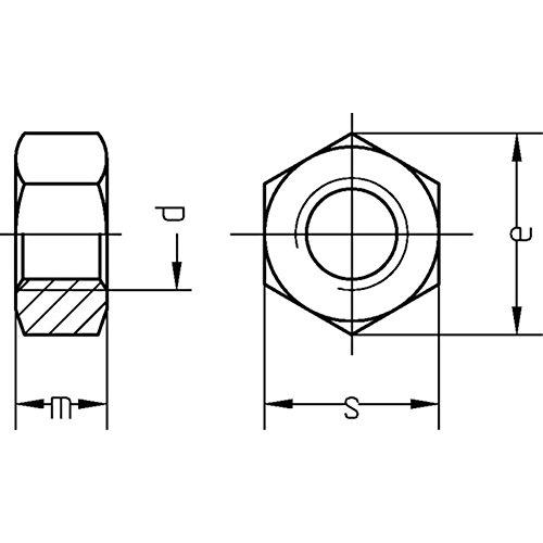 DIN 934, Sechskantmuttern Kl.8, M 10, blank, VE: 500Stück