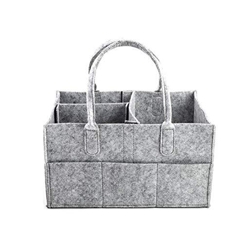 Pannolini Basket Feltro Organizzatore Salviette Per Neonati Pannolini Borsa Caddy Bagagli Multifunzione Portatile Cestino Newborn Essentials Baby Shower Regali Grey
