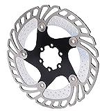 Bnineteenteam Rotor de Freno de Disco, Rotor de Freno de Disco Negro Grabado CNC Fresado Anodizado Marcado Accesorios de Bicicleta para Bicicleta de montaña
