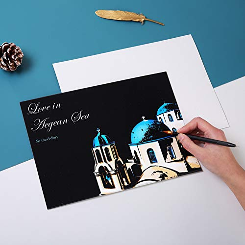 DishyKooker A4 DIY Scratch Picture Painting Kinder Scraping Papier DIY Craft Nightscape Zeichnung Brillantes Feuerwerk articulos de producto