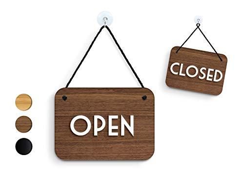 3DP Signs | Retrò Vintage - Open Closed - Cartel Doble Cara Signo [OC13] Abierto Cerrado - Placa de la Puerta Colgante de Doble Cara - Letrero de la Tienda Comercial Reversible