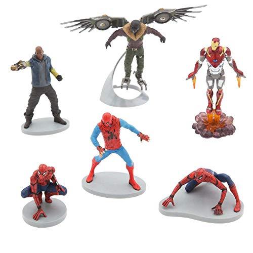 Marvel Ney Store Spider-Man Figure Play Set ~ 6 Piece by Disney