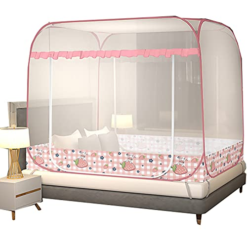 Zanzariera a pop-up, progettata per camera da letto e viaggi all'aperto, fori di morso anti-zanzare migliori, facile da installare per letto singolo per doppio letto 100 * 200 * 105 cm 1 door
