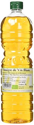 Bionsan - Vinaigre de Vin Blanc Biologique | 2 Bouteilles de 1000 ml | Total : 2000 ml