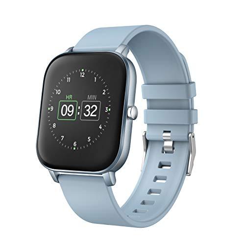 MoreFit Montre connectée avec moniteur de fréquence cardiaque, moniteur d'activité à écran tactile 3,6 cm, moniteur de sommeil, podomètre étanche IP68 avec moniteur de sommeil, compteur de pas pour homme et femme