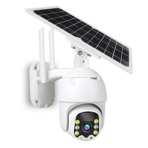 Cámara CCTV Al Aire Libre con Color Visión Nocturna, 1080P Resistente A La Intemperie WiFi Seguridad De La Cámara De Seguridad Seguridad De La Casa con Una Sartén De 355 °,4G Version 64G
