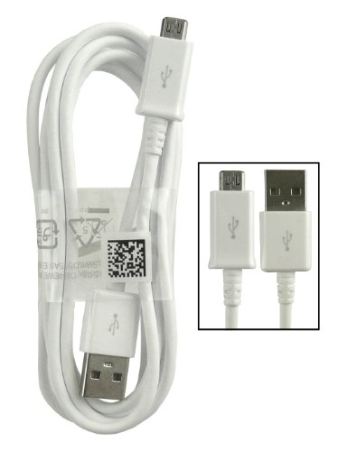 Samsung Emartbuy® Weiß Genuine Galaxy Tab S2 9.7, Galaxy Tab S2 8.0 Micro USB Synchronisierungs Daten Ladekabel Großpackung 1.5m