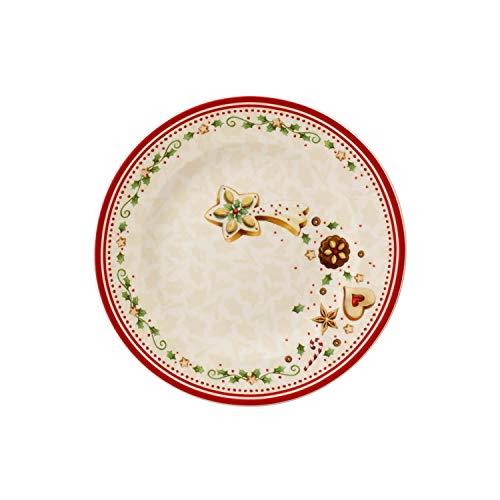 Villeroy & Boch Winter Bakery Delight 1486122642 Plato de Desayuno, Porcelana, Rojo,...