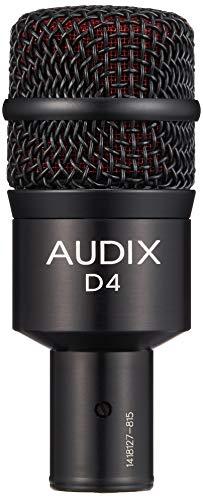 Audix D4 hoogwaardige dynamische microfoon voor instrumenten met lage frequentie-aandeel.