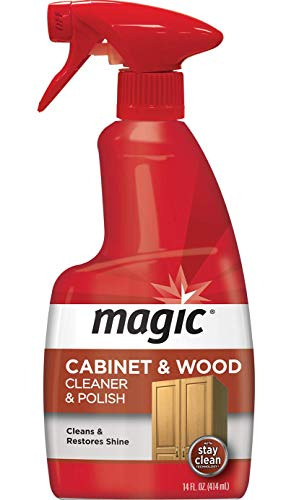 Magic Wood Cleaner and Polish - 14 Fluid Ounce - Furniture Table Chairs Wood Cabinets Clean and Restore Shine