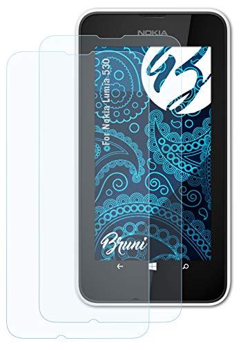 Bruni Schutzfolie kompatibel mit Nokia Lumia 530 Folie, glasklare Bildschirmschutzfolie (2X)