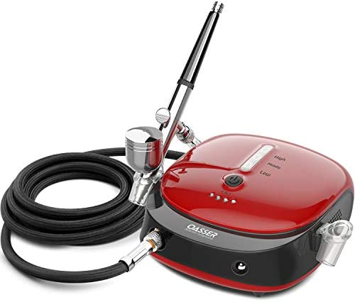 Oasser Airbrush Kit 3 Modes Dual Action Airbrush Gun Set with 1000mAh Rechargeable Lithium Battery product image