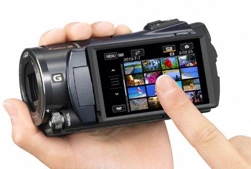 Sony HDR-CX550VEB Full HD Camcorder (Flash, 10 fach optischer Zoom, 8,8 cm (3,5 Zoll) Display, EXMOR R Sensor, 64 GB interner Speicher) schwarz