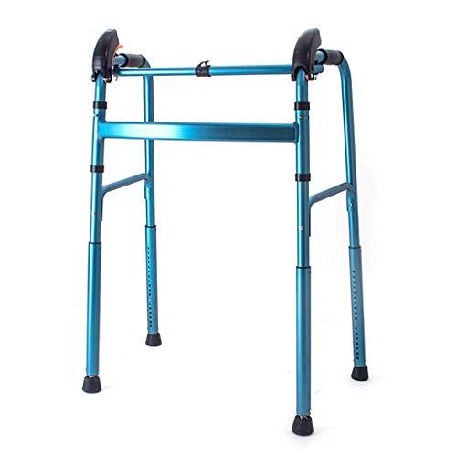 ZXL Kletternde Treppe Aluminium, das leichtes gehendes Feld, gehendes Mobilität Aid Walker faltet