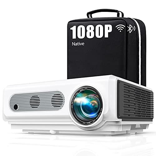Vidéoprojecteur 4k WiFi Full HD 1080P, 8500LM TOPTRO Rétroprojecteur Bluetooth portable, Projecteur Compatible iPhone Android...