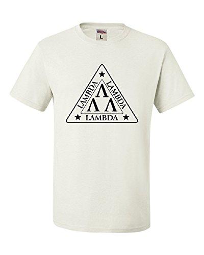 Large White Adult Lambda Lambda Lambda Tri Lambda Funny T-Shirt