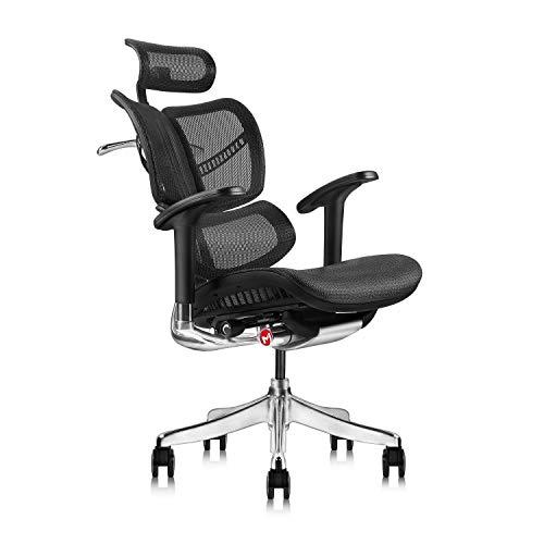SWNN gaming chair Ergonómica escritorio de oficina silla de escritorio silla de respaldo alto con malla 3D Ajustable reposabrazos silla de la computadora de altura ajustable y reposacabezas es ajustab