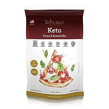 Extra White Gold Keto Mix - Low Carb Keto Mix Sugar-Free Gluten-Free Diabetic Friendly  Keto Pizza & Bread