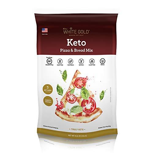 Extra White Gold Keto Mix - Low Carb Keto Mix, Sugar-Free, Gluten-Free, Diabetic Friendly (Keto Pizza & Bread)