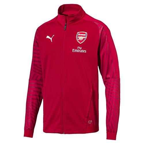 PUMA 2018/19 Arsenal FC STADIUM Jacket with sponsor Logo - Chili Pepper - L