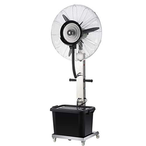 Ventilador De Base Vertical Ventilador De AspersióN Ventilador De 3 Velocidades Cabeza del Ventilador Atomizador Ventilador De VentilacióN Industrial Comercial Mudo 350w, Inferior con Ruedas.