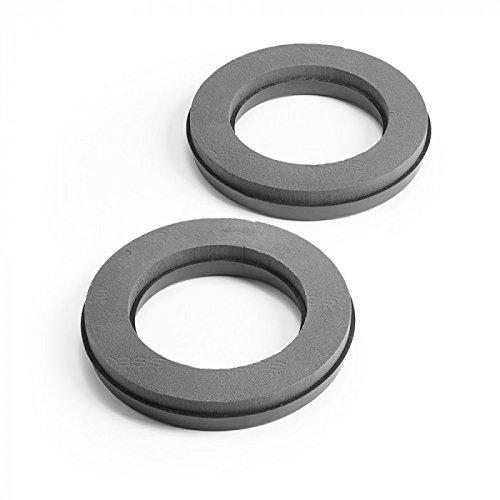 OASIS Noir Black Wet Floral Foam MaxLife NAYLORBASE Ring 31cm Pack of 2