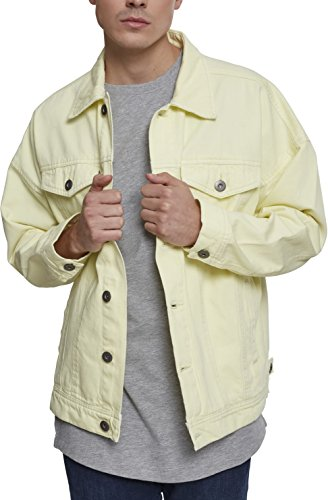 Urban Classics Oversize Garment Dye Jacket Chaqueta de jean, Amarillo (Powder Yellow 01323), XXL para Hombre