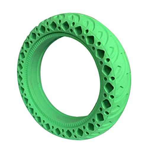 VerneAnn Neumático Scooter 8.5 Pulgadas Resistente al Desgaste Absorción Golpes Reemplazo Durable No neumático Sólido Protector Goma a Prueba explosiones Accesorios Panal para Xiaomi M365(Verde)