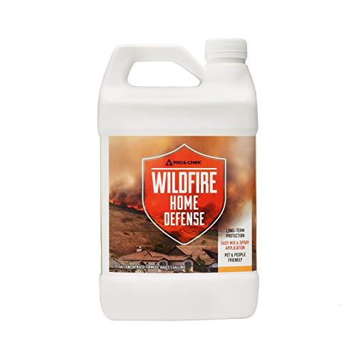Phos-Chek Wildfire Home Defense Long Term Fire Retardant, Mix and Spray Application, 0.75 Gallon Jug