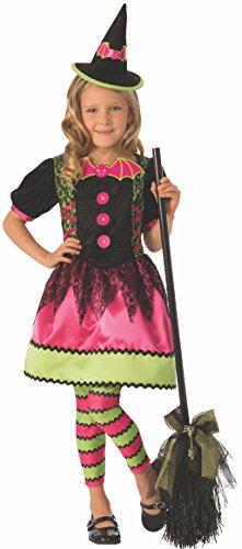 Halloween - Disfraz de Bruja vampiresa para niña, color rosa - 5-7 años (Rubie's 641100-M)