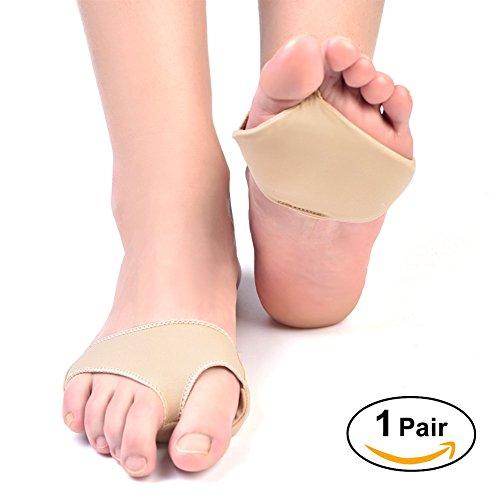 yosoo 2 Gelkissen für Mittelfußknochen, Fuß-Gel Vorfuß Unterstützung Schmerzlinderung Wunden Absorber Kissen Innensohle entzündeten Fußballen Pad & Fuß Spacer Ball von Fuß Pad Zehen Orthopädische