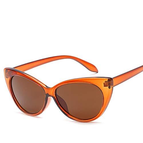 Gafas de Sol Sunglasses Nuevas Gafas De Sol Retro Sexy Cateye para Mujer, Gafas De Sol De Diseñador Vintage Cateyes, Gafas De Moda para Mujer, Gafas Uv400, Tonos C2Anti-UV