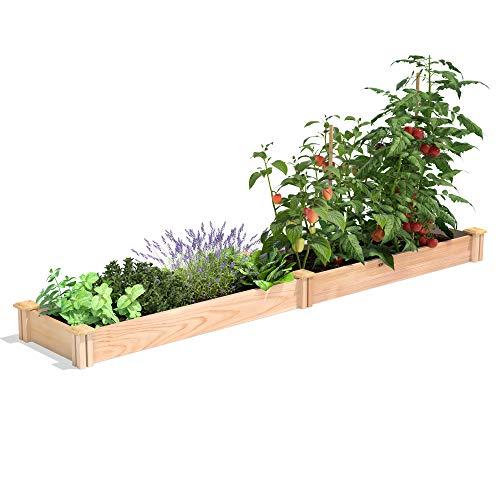 Greenes Fence Premium Cedar Raised Garden Bed, 16' x 96' x 5.5'