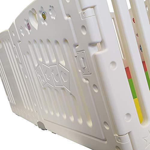 All Stars Parc bébé 8 pièces XXL avec panneaux d'activité tapis de sol et balles colorées...