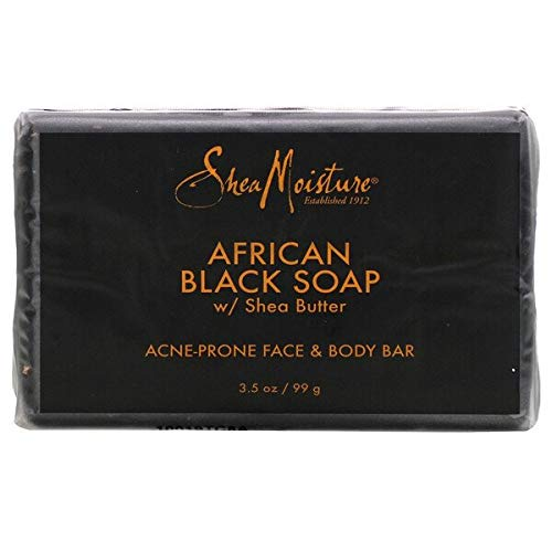 Sheamoisture Face and Body Bar for Oily, Blemish-Prone Skin African Black Soap Paraben Free 3.5 Oz