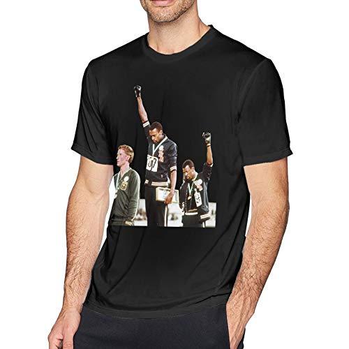 Fashion T-Shirt Black Power (D3) Protest Tommie Smith John Carlos Summer Olympics 1968 Mexico Men
