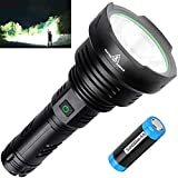 BERCOL Rechargeable LED Tactical Flashlights High Lumens, Super Bright 100000 Lumens Handheld Flashlight with 26650 Battery for Camping/Hiking/Hunting/Emergencies
