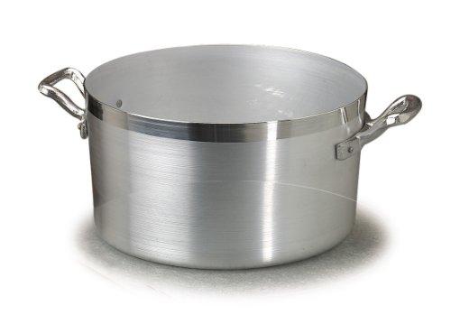 Pentole Agnelli Casseruola Alluminio Alta Family 2 Manici cm22 Pentole Cucina, Acciaio Inossidabile, Argento, 22 cm