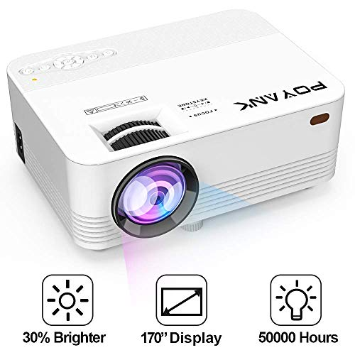 Mini WiFi Projector with 20000 Hours Lamp Life, T37 Multimedia Home Theater Movie Projector,Compatible with Full HD 1116P HDMI,VGA,USB,AV,Laptop,Smartphone