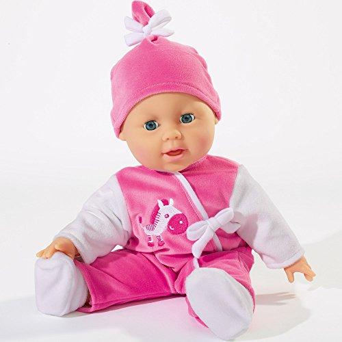 Hummelladen Simba Weichkörperpuppe Laura, mit Schlafaugen, Macht 24 Babylaute, 38 cm: Babypuppe Puppenbaby Kinderpuppe Spielpuppe Weichkörper Puppe