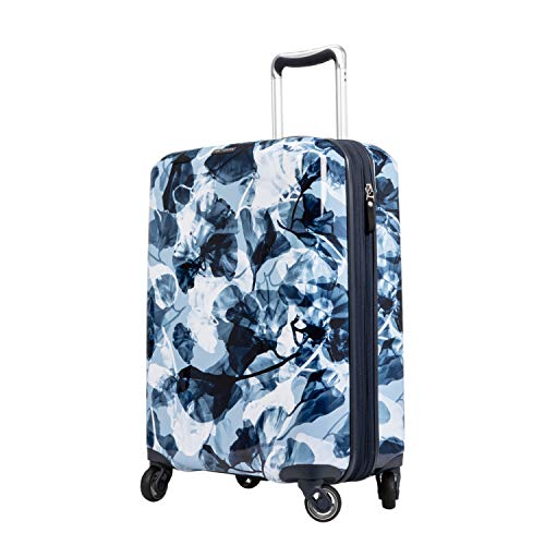 Ricardo Beverly Hills Beaumont 20-inch Carry-On Suitcase (Blue Ginko Leaf Print)