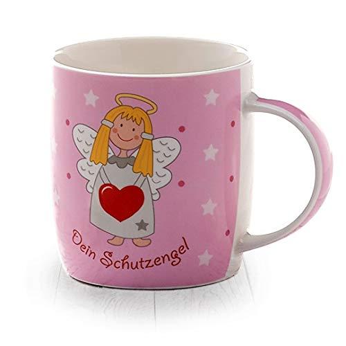 Heaven and Angels Schutzengel Tasse (zartes rosa) - Geschenkidee von heavenandangels - Glücksengel Glücksbringer Schutzengeltasse Engel Kaffee Tee Teebecher Kaffeetasse Becher